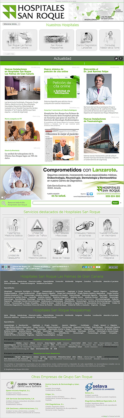 web corporativo grupo sanitario